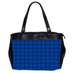 Cobalt Weave Oversize Office Handbag (Two Sides)