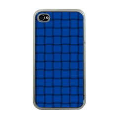 Cobalt Weave Apple Iphone 4 Case (clear)