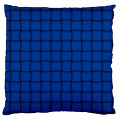 Cobalt Weave Large Cushion Case (two Sides)