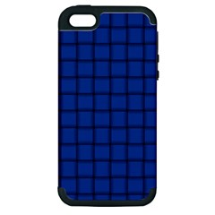 Cobalt Weave Apple iPhone 5 Hardshell Case (PC+Silicone)