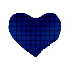 Cobalt Weave 16  Premium Heart Shape Cushion