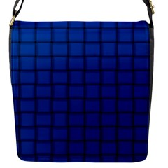 Cobalt Weave Flap Closure Messenger Bag (small)