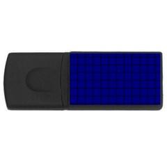 Dark Blue Weave 2GB USB Flash Drive (Rectangle)