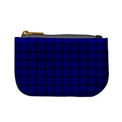 Dark Blue Weave Coin Change Purse
