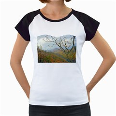 Way Above The Mountains Women s Cap Sleeve T Shirt (white)