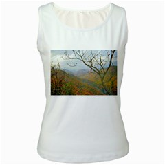 Way Above The Mountains Womens  Tank Top (white)