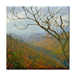 Way Above The Mountains Ceramic Tile
