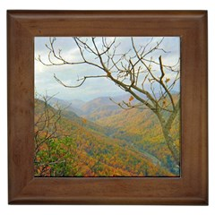 Way Above The Mountains Framed Ceramic Tile