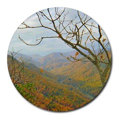 Way Above The Mountains 8  Mouse Pad (round)