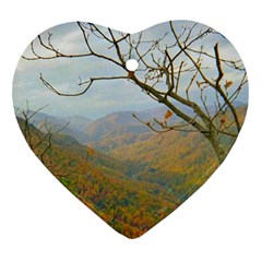 Way Above The Mountains Heart Ornament (Two Sides)