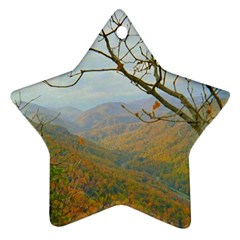 Way Above The Mountains Star Ornament (Two Sides)