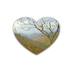 Way Above The Mountains Drink Coasters (heart)