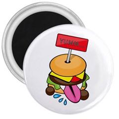 BurgerYUMM 3  Button Magnet