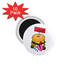 Burgeryumm 1 75  Button Magnet (10 Pack)