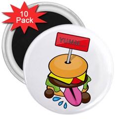 BurgerYUMM 3  Button Magnet (10 pack)