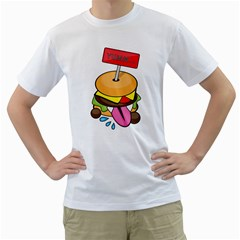 BurgerYUMM Mens  T-shirt (White)
