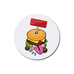 BurgerYUMM Drink Coasters 4 Pack (Round)