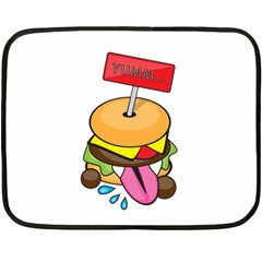 Burgeryumm Mini Fleece Blanket (two Sided)