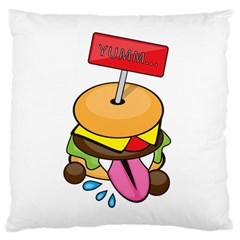 Burgeryumm Large Cushion Case (two Sides)