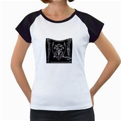 6 Set New Logo Women s Cap Sleeve T-Shirt (White)