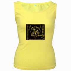 6 Set New Logo Womens  Tank Top (Yellow)