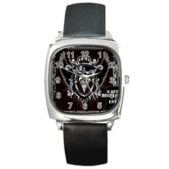 6 Set New Logo Square Leather Watch