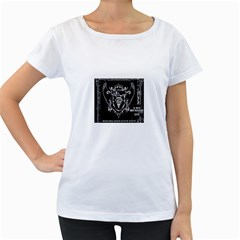 6 Set New Logo Womens' Maternity T-shirt (White)