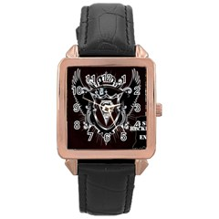 6 Set New Logo Rose Gold Leather Watch
