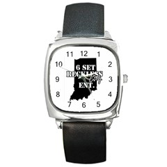1006135 10151703147645129 882481462 N Square Leather Watch