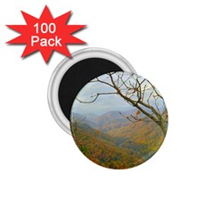 Way Above The Mountains 1.75  Button Magnet (100 pack)