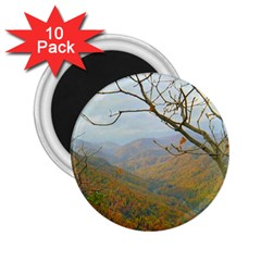 Way Above The Mountains 2 25  Button Magnet (10 Pack)