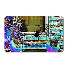 Colored Foil Halloween Magnet (Rectangular)