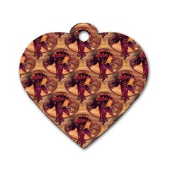 Donna Orechini By Alphonse Mucha Dog Tag Heart (Two Sided)