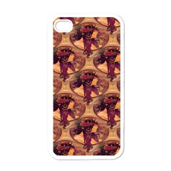 Donna Orechini By Alphonse Mucha Apple iPhone 4 Case (White)