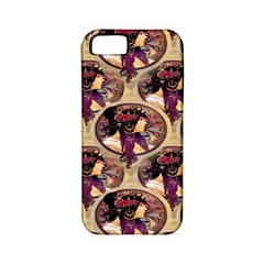 Donna Orechini By Alphonse Mucha Apple iPhone 5 Classic Hardshell Case (PC+Silicone)