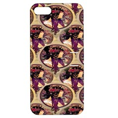 Donna Orechini By Alphonse Mucha Apple iPhone 5 Hardshell Case with Stand