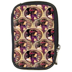 Donna Orechini By Alphonse Mucha Compact Camera Leather Case