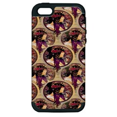 Donna Orechini By Alphonse Mucha Apple iPhone 5 Hardshell Case (PC+Silicone)