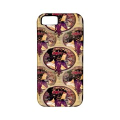 Donna Orechini By Alphonse Mucha Apple iPhone 5 Classic Hardshell Case (PC+Silicone)