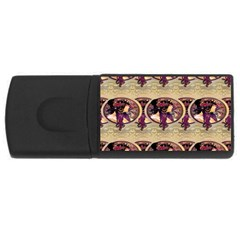 Donna Orechini By Alphonse Mucha 2GB USB Flash Drive (Rectangle)