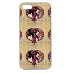 Donna Orechini By Alphonse Mucha Apple Seamless iPhone 5 Case (Clear)