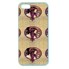 Donna Orechini By Alphonse Mucha Apple Seamless iPhone 5 Case (Color)
