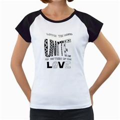 Watch The World Unite As You Turn Up The Love Women s Cap Sleeve T-Shirt (White)