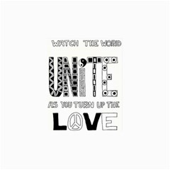 Watch The World Unite As You Turn Up The Love Canvas 16  x 16  (Unframed)