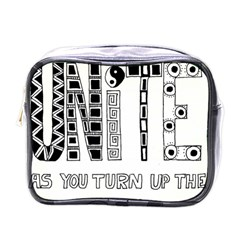 Watch The World Unite As You Turn Up The Love Mini Travel Toiletry Bag (One Side)