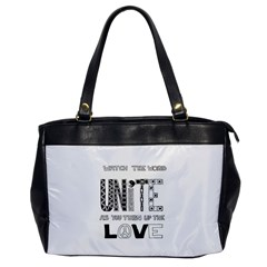 Watch The World Unite As You Turn Up The Love Oversize Office Handbag (One Side)