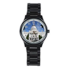 Capitol in Sacramento Sport Metal Watch (Black)