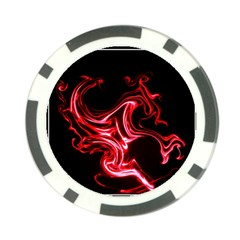Red dragon Poker Chip