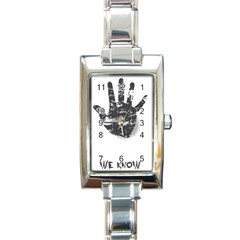 Tshirt Design 560 Rectangular Italian Charm Watch
