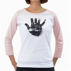 Tshirt Design 560 Womens  Long Sleeve Raglan T Shirt (white)